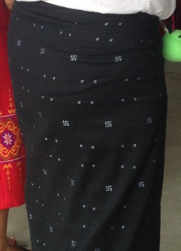 Burma Longyi Pro Swastika